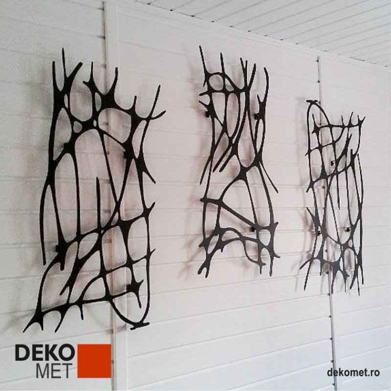Decoratiune de perete 3 piese - Abstract